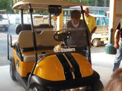 Marlene's new golf cart